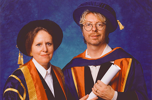Dave Stewart and Prof Anne Wright