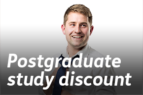 Postgraduate discount 25 years