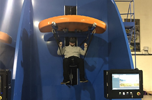 John Hawkins in simulator