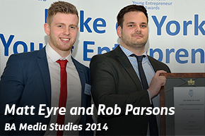 Matt Eyre and Rob Parsons