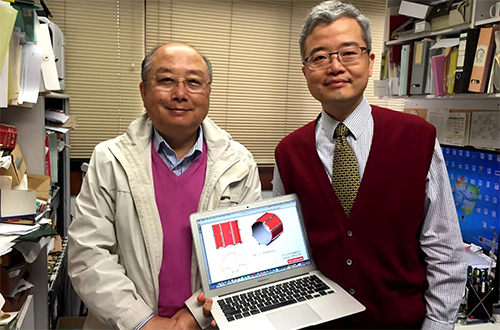 David Kwok and Prof. Yung of PolyU (Project Leader for the Sampler of Chang'e 5)