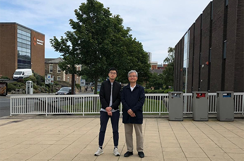 David Kwok and his son in 2019