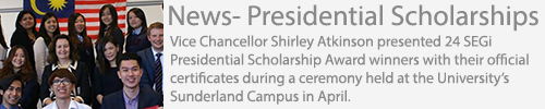 Presidential Scholarships Awards